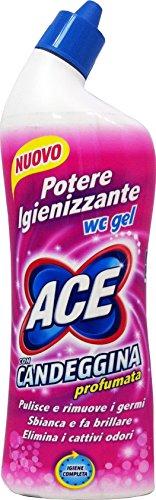 12 x ACE Igienizzante WC Gel Con Candeggina Profumata 700 Ml