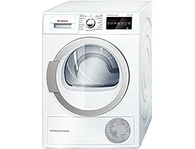 Bosch WTW85490GB Freestanding Front Load 8kg A ++ White - Tumble Dryer (Freestanding, Front Load, Heat Pump, White, Rotary, Right)