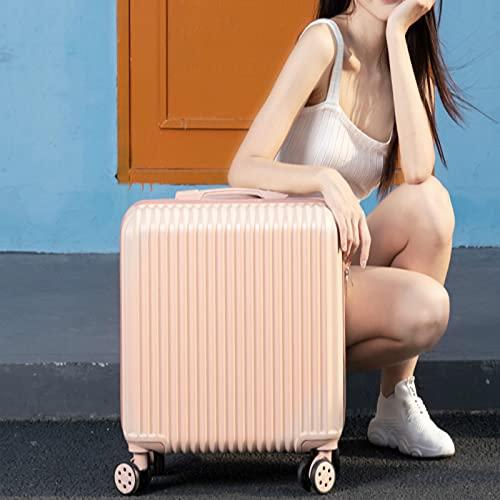 Mini valigia femminile piccolo codice imbarco scatola valigia colore: verde menta, bianco galleggiante, polvere di Cornel, argento, dimensioni: 18 pollici, Polvere di angolo, 46 cm,