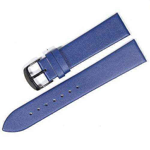QWERTYU LIFUQIANGME Piel de Vaca Cuero Correa de 18mm 20mm 22mm Suave y Delgada Correa de Ajuste del cinturón for Relojes Galaxy S3 Reloj de Engranajes (Band Breedte : 22 Mm, Bandkleur : Black2)