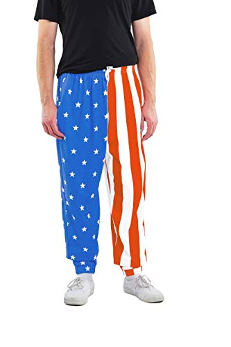 Tipsy Elves American Flag Workout Pants - USA Karate Pants Loose Fitting: XXL