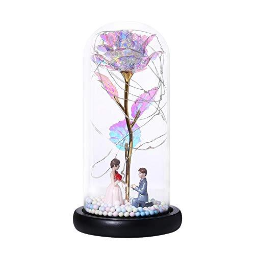 Cadena de luces LED de cúpula de cristal rosa para San Valentín (propuesta), recargable por USB, luces de noche, para decoración de habitación del hogar o regalo de amigos.
