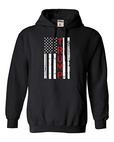 Go All Out Medium Black Adult Trump 2020 Re-elect Donald Trump Sweatshirt Hoodie