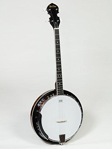 Heartland Banjo, 4 Saiten, 24 Klammern mit geschlossener fester Rückseite, Tenor-Banjo mit weich gepolsterter Tasche