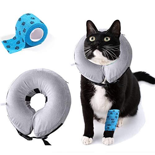 AILITRADE Collare Gonfiabile per Cani di Piccola Taglia per Cani e Gatti Comodo Collare per recuperare Animali Domestici