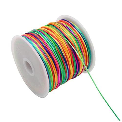 Zonster Cordón Que Rebordea La Cuerda De Rosca De Artesanía Cadena 45m 0.8mm del Encerado Cuerda De Rosca para Bricolaje Arte Hecho a Mano Joyería Que Hace La Pulsera del Collar