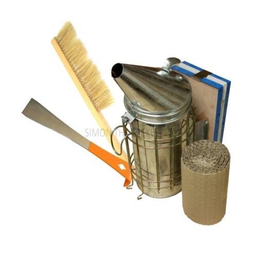 Großer Stahl Bee Smoker, Hive Werkzeug und Bürste