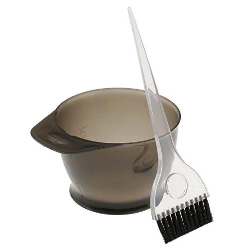 Sharplace Kit Teinture Coloration Bol Brosse pour Cheveux Coiffure Salon - Facile à Appliquer et Durable - Gris