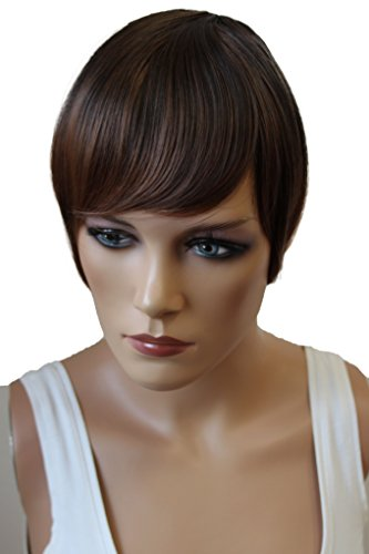 Prettyshop - Flequillo, postizo, mechón de pelo de poni, clip de extensiones, variación de color