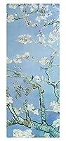 183cm x 68cm x 6mm 有名な絵画ヨガマットスエード吸収汗練習マットTPE ヴァンゴッホアプリコットブロッサム