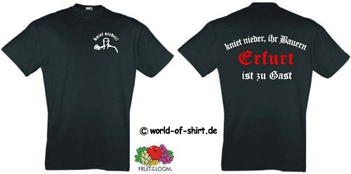 world-of-shirt Herren T-Shirt Erfurt Ultras kniet nieder