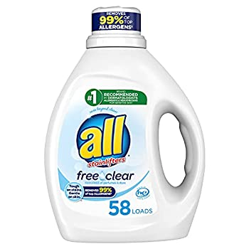 all Liquid Laundry Detergent Free Clear for Sensitive Skin 58 Loads 88 Fluid Ounce