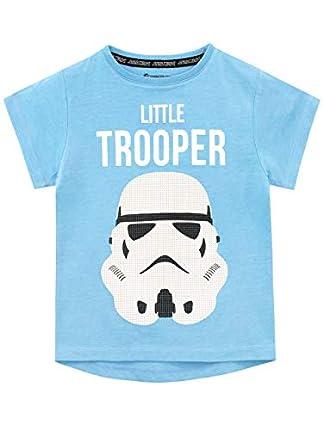 Star Wars Camiseta de Manga Corta para niños Stormtrooper Azul 5-6 Años