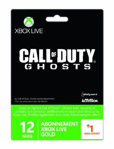 Carte Abonnement Xbox Live Gold 12 mois + 1 mois offert - Call of Duty: Ghosts