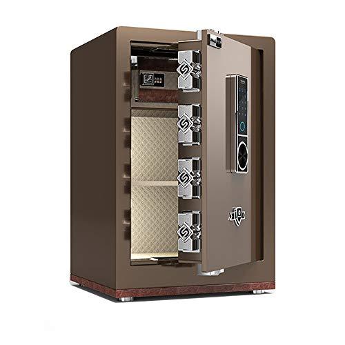 YDHG Caja de Seguridad Digital Caja de Bloqueo Segura de depósito de depósito. Caja Fuerte para Guardar Dinero (Color : Coffee Gold, Size : 38x33x60cm)