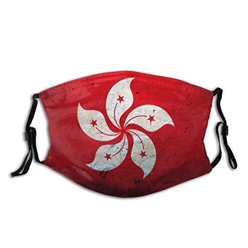 Mundschutz Hong Kong China Flag Waschbare und Wiederverwendbare Gesichtsbedeckung mit Filter
