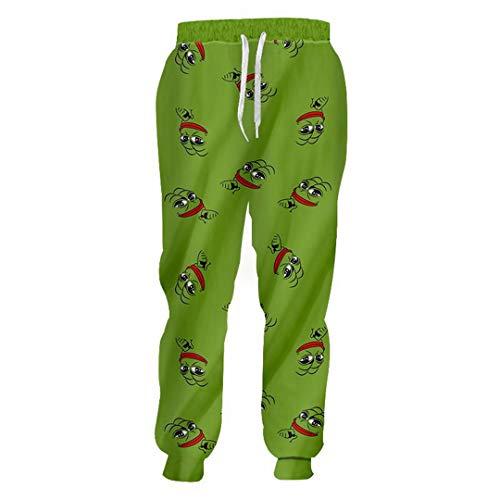 Pantalon Grenouille Imprimé 3D Pantalons décontractés Unisexe Streetwear Pantalon de survêtement en Vrac AR Pants M