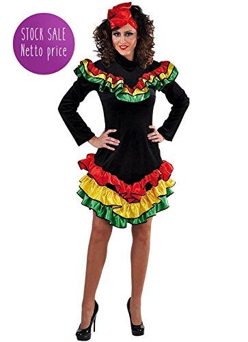 Panelize Spanierin Samba Brasil Rio de Janiero Dame Rassiges Kostüm Tänzerin XS bis XXL (S)