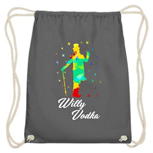 Willy Vodka - wodka, wodkatrinker, wodkaliefhebbers, alcohol, soppen, drinken, party, feesten - katoenen gymzak