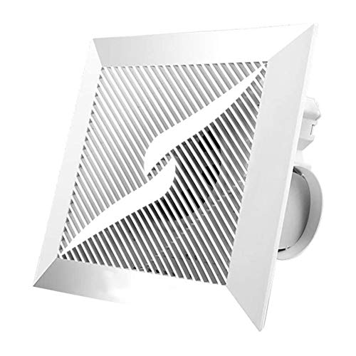 Ventilador Axial Extractor de aire de techo, cocina baño extractor de humos de escape, Potente flujo de alta potencia de ruido de tipo techo ultradelgada ventilador silencioso adecuado gran sala, dorm