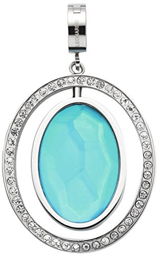 JEWELS BY LEONARDO Damen-Anhänger & Anhängerclips Sonata Darlin's Edelstahl Glas klar silber blau turquoise 016545