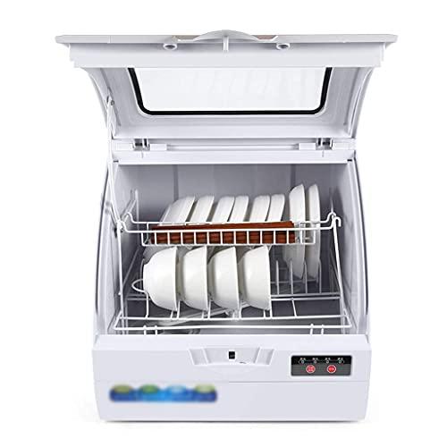 Lavavajillas Lavavajillas De Sobremesa Pequeño para El Hogar Totalmente Automático Máquina De Lavavajillas Independiente 3 Programas De Limpieza Inteligentes Frutas Y Verduras Lavables (Color: Metál