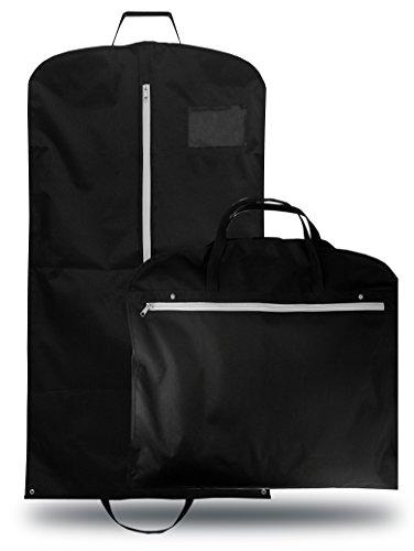 OWLMO® Elegante Anzugtasche/Kleidersack mit XXL Staufach/Laptopfach   Tragegriffe für die knitterfreie Reise   faltbar   robust   110x62 cm