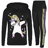 A2Z 4 Kids Enfants Filles Survêtement Noir Designer - Unicorn Hooded Set 225...
