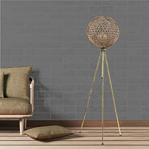 Shisyan Soporte de lámpara Planta moderna lámpara hecha de metal en oro sólido Turquía cuerda Lámpara Yute LAMPADAIRE Lampshade Oficinas pendiente de la luz de la cocina de la sala