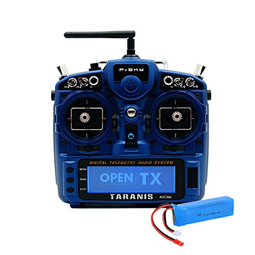 FrSky Taranis X9D Plus SE Special Edition 2019 Access 2.4G 24CH Radio Transmitter with 2S Lipo Battery Pack - Night Blue