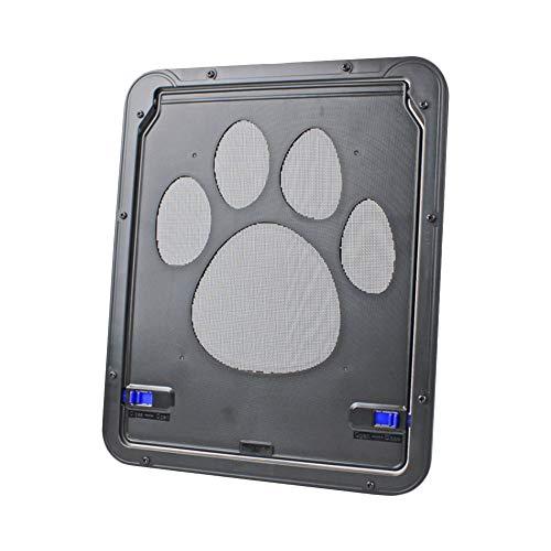 DAYOLY Katzenklappe Hundeklappen Haustier Screen Pet Tür Magnetisch Bildschirm Schiebetür katzenklappe für fliegengitter Welpen und Kleine Hunde In & Out Safe, Einfache Installation