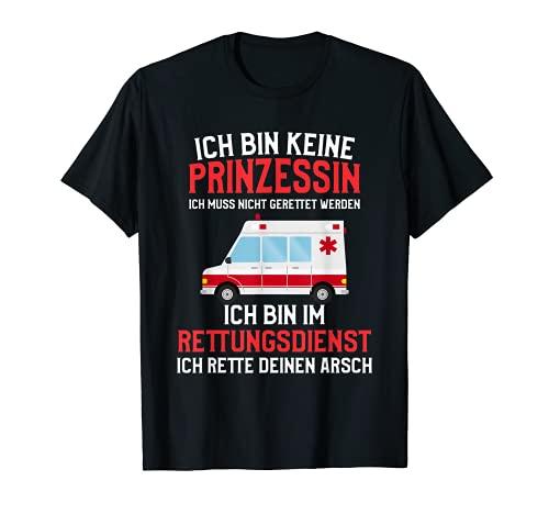 Rettungsdienst Sanitäter Geschenk für eine Sanitäterinnen T-Shirt