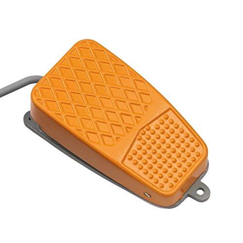 Preisvergleich Produktbild WITTKOWARE Fußschalter,  Alu,  10A,  250V,  1 Wechsler,  1, 8m Kabel,  gelb