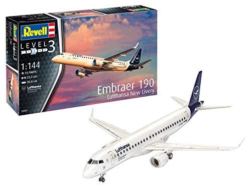 Revell 03883Maquette d'avion Embraer 190Lufthansa échelle : 1/144, multicolore