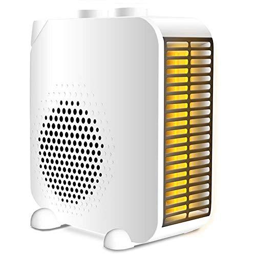 DASGF draagbare mini-ventilator, 2000 W, met 2 warmtestanden, PTC-keramiek, persoonlijke ventilator, hing, tip-over en oververhitting, voor huis