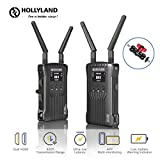 Hollyland Mars 400 [Official] 1080P Wireless Dual HDMI Video Transmission System, 400ft iOS & Android App Monitoring with 3 Scene Modes, OLED Display for Vlog, Live Streaming, Multi-Camera Production