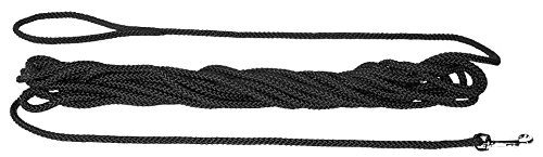 HUNTER Feldleine, Suchleine aus reißfestem Polyamidseil, Handschlaufe, für Jagd, Training und Ausbildung, 10 m, schwarz