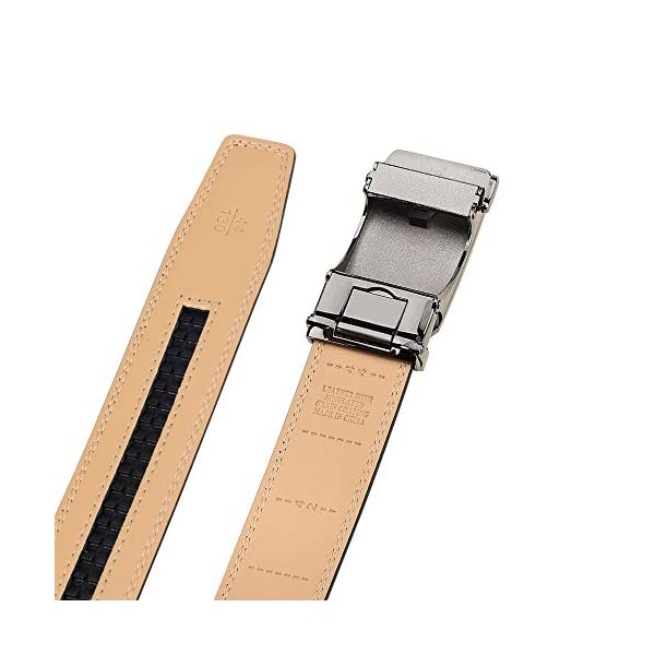 28″-60″Men's Leather Ratchet Dress Belt Big And Tall With Automatic Buckle