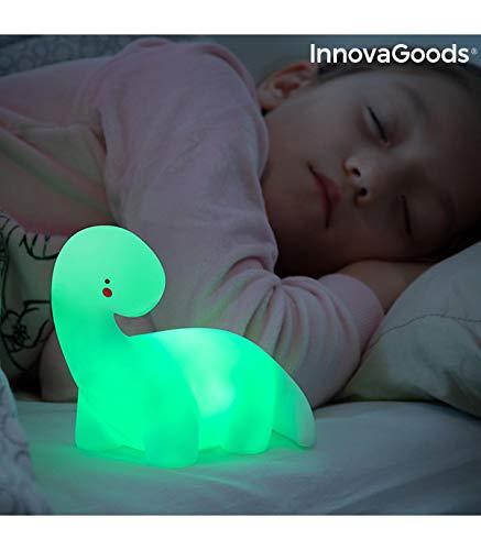 InnovaGoods Lámpara Dinosaurio LED Multicolor Lightosaurus, Blanco