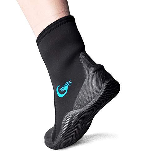 WYYHAA Botas de Traje de Neopreno - Neopreno de 5 mm Snorkeling Zapatos de Surf, Botines de Aleta Seco rápido de Aguas Antideslizantes para la Pesca de Surf Kayaking,2