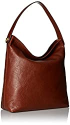 Fossil Women's Maya Leather Large Hobo Handbag, Brown