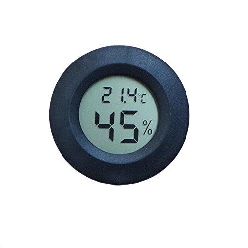 GooPro_zd, igrometro Digitale, termometro per Stanza, Monitor LCD Rotondo per Interni, misuratore di umidità per umidificatori, deumidificatori, Serre, Cantina del Bambino