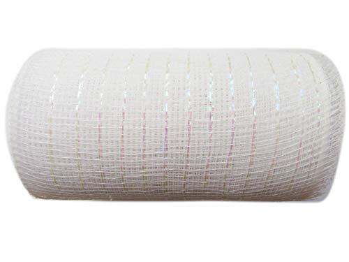 White Deco Mesh Ribbon