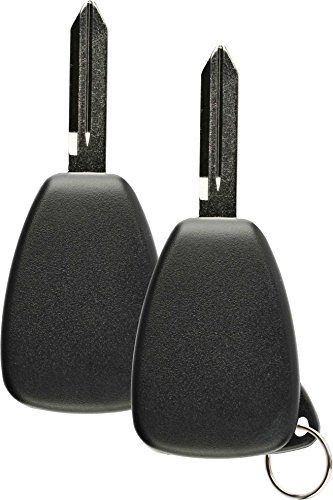 Discount Keyless Replacement Uncut Car Keyless Entry Remote Fob Key Compatible with OHT692713AA, OHT692427AA, KOBDT04A (2 Pack)
