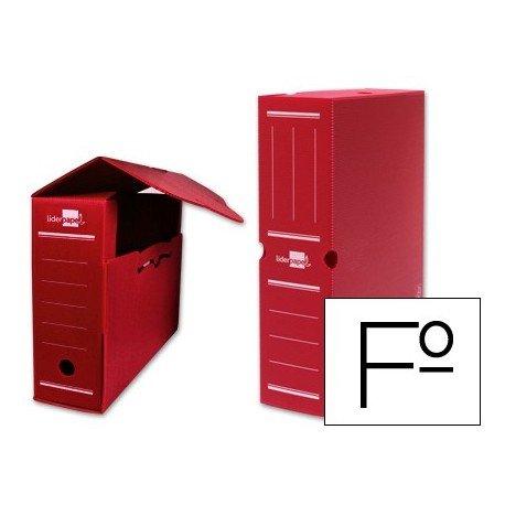Liderpapel Caja Archivo Definitivo Plástico Rojo Tamaño 36X26X10 Cm