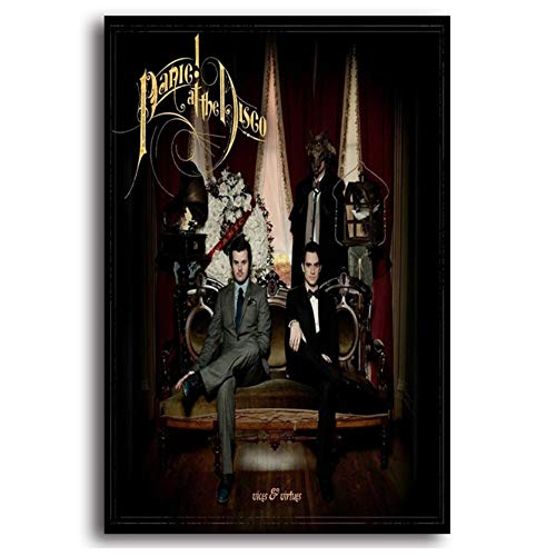 DNJKSA New Panic at The Disco Vices & Virtues Album Painting Art Poster Print Canvas  Picture Wall Print Home Decor -50x75cm No Frame