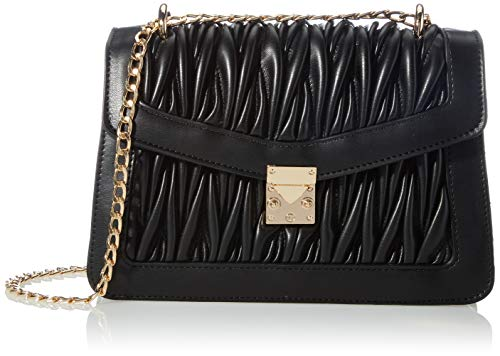 Vero Moda VMPATTI Cross Over Bag, Umhängetasche Femme, Black, One Size