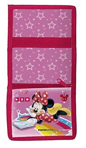 Theonoi Kinder Geldbörse Geldbeutel Portemonnaie Brieftasche – wählbar Frozen Paw Minnie – Geschenk für Mädchen (Minnie Mouse)
