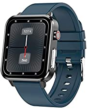 EKG Damskie Mężczyźni Smart Watch SmartWatch Android IOS IP68 Zegarek E80 Temperatura tlen Sphygmomanometer Sports Fitness Smart E86