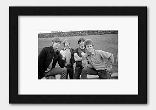 The Byrds - Roger Kevin Gram and Chris May 1968 Print Black Frame White A3 (29.7x42cm)